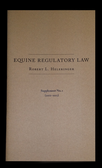 Buy Equine Regulatory Law Book